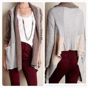 Anthro Sparrow Colorpatch Cardigan Open Front